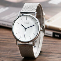 Fashion Geneve Womens Stainless Steel Mesh Analog Quartz Wrist Watch Silver/Gold