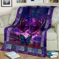 Blue Morpho Butterfly, Purple Butterfly, Butterfly Lover Gift, Mom Blanket Gift