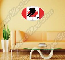 "Canada Flag Ice Hockey KHL NHL Team Oval Wall Sticker Room Interio Decor 25""X18"""