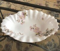 Antique Porcelain Floral Oval Bowl Made IN Germany Rare