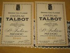 Vieille Étiquette de vin Chateau Talbot 1940
