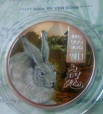 Cook islands 10 dollar  2011 Lunar  Year of the Rabbit  Silver 100 gr