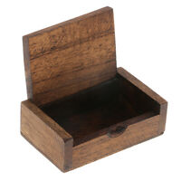 Handmade Wood Toothpick Case Antique-Finishing Box Dining Table Decoration S