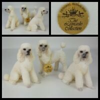 Leonardo Collection Vintage Poodle Figurines Ornament x 3
