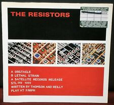 THE RESISTORS OBSTACLE / LETHAL STRAIN 1990 STL 019 SATELLITE RECORDS POSTER 7""