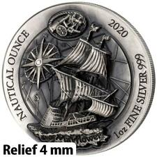 Ruanda 2020 - Nautical Ounce Mayflower (1.) Ultra High Relief - 1 Oz Silber AF