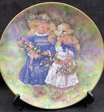 Flower Gatherers Christine Haworth Porcelain Plate Leonardo Collection 8 Ins