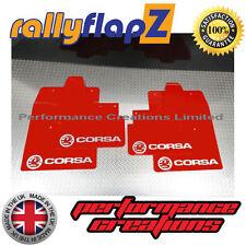rallyflapz passend für Opel Corsa C (00-07) Schmutzfänger rotes Logo silber 4mm