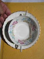 Flat cream soup bowl & saucer set Syracuse china Jewel Tree