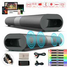 Wireless Bluetooth 5.0 Sound Bar Subwoofer Speaker Fm Home Tv Theater w/Remote