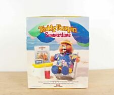 Teddy Ruxpin Summertime Cassette Tape Songbook and Beach Outfit 1987 Reading