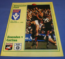 1983 Elimination Final AFL VFL Football Footy Record Essendon V Carlton N MINT