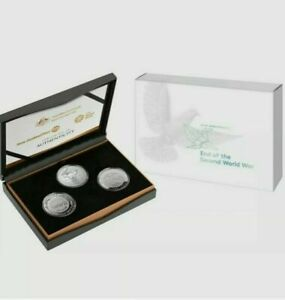 2020 75th Anniversary of the End of WWII 3 Coin Silver Proof Set