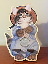 Coin display cell phone stand docking charging station TOM KITTEN Christmas gift