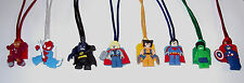6 SUPER HEROES AVENGERS LEGO LIKE NECKLACE PARTY FAVORS PRIZE GOODY BAG GIFT
