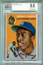 1954 Topps Hank Aaron RC #128 BVG 5.5 EX+ Braves Rookie