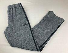 New Youth Adidas Grey Heathered/ Black Stripes Sweatpants, Large (14/16) (C)