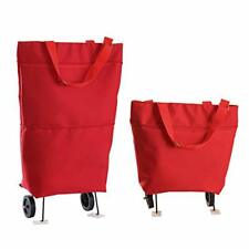 Trolley Bags Folding Shopping cart with Wheels Collapsible Reusable Grocery