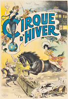 Cirque D'Hiver by Louis Galice A1 High Quality Canvas Print