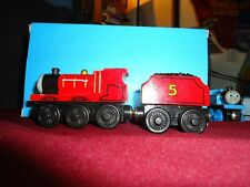 Thomas the Train James and Tender Wooden Magnetic 2 Car Set