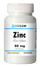 Zinc Sulfate 220mg equivalent to 50mg ZINC Capsules 120 each USA SHIPPING