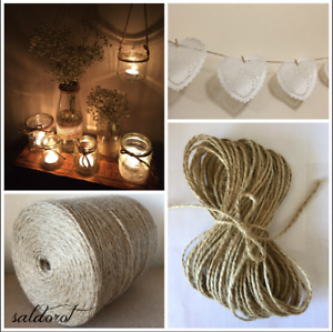 2-10m  2 /4 /6 mm  ❁ Soft Natural Jute Twine String Cord ❁Hessian Burlap Rustic