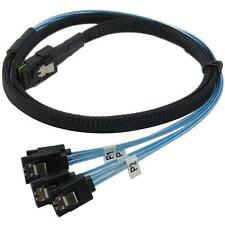 50CM Internal Mini SAS (SFF-8087) to 4x SATA 7-Pin F Forward Breakout Cable LSRG