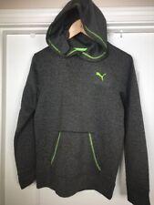 dda9517ddcee Boys PUMA Kids Youth Grey   Green Performance Hoodie Pullover Sweatshirt -  Large