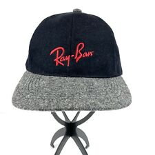 Ray-Ban Branded Logo Designer Strapback Adjustable Hat Cap Wool Viscose
