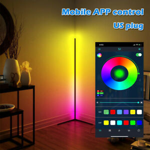 RGB Color Changing Standing Corner Lamp Dimmable LED Floor Lamp Remote Control
