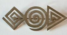 Modernist Sterling Silver Brooch Pin Mexico Superb Vintage Open Geometric Design