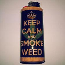 Keep Calm And Smoke Weed Bic Lighter Case Marijuana Ganja Holder Sleeve Cover