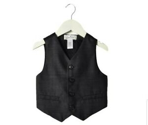 Janie and Jack Special Occasion Wool Tuxedo Suit Vest Toddler 2T Black NWT
