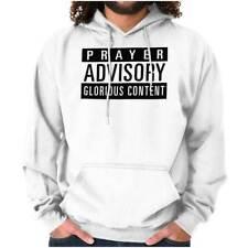 Prayer Advisory Religious Christian Jesus God Hoodies Sweat Shirts Sweatshirts