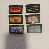 Nintendo Gba Gameboy Advance Game Lot 6 Games Star Wars ,Yu Gi Oh, Incredibles
