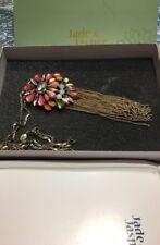 Lia Sophia Jasper Collection Crystal & Stone Pendant Necklace W/box *