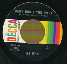 THE WHO 45 TOURS CANADA BABY DON'T YOU DO IT
