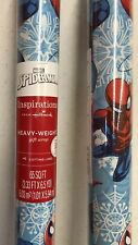 Marvel Christmas Gift Wrapping Paper Spider Man 70 SQ FT (3.33ft x6.5yd) 2 Rolls