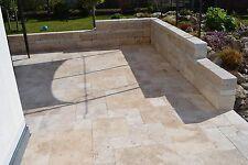 Terassenplatten Gartenplatten Bodenplatten Travertin Light Antik 60 x 40 x 3cm
