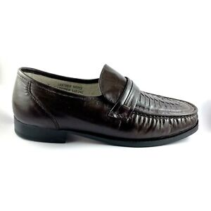 Rome Style Italy Brown Leather Loafer Shoes Men's UK 7 EEE, US 8, EU 41, 25.7cm