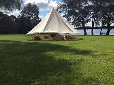 4M/13ft Waterproof CottonCanvas Camping Bell Tent Outdoor Heavy Duty Safari Tent