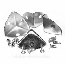 Confezione di 4 Tono Argento Custodia in Metallo Protettori Angolo, 21mm i lati, con viti