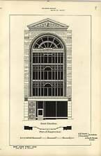1886, Design Plan Shop In Albion Street Leeds Jh Knight, Smith Tweedale