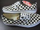 Vans Golden Coast Authentic Mens Checkerboard Canvas Skate Shoes Black White NWT