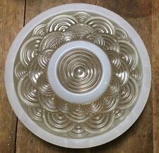 VTG Ceiling Light Globe Shade Art Deco Nouveau Concentric Wave pattern round