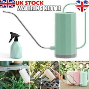 Indoor Small Watering Can Long Narrow Spout Sprinkler Kettle For Plants 1.2L UK