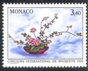 MONACO #1592 Concours International de Bouquets MNH VF OG Flower Show 1987