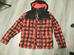RED BLACK BURTON DRYRIDE SKI SNOWBOARD WINTER COAT JACKET EX> CONDITION YOUTH XL