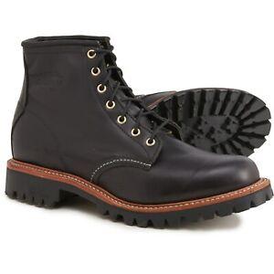 "Chippewa 1901G32 Black Whirlwind Men's 6"" Lace-up Work Boots Vibram Soles USA"