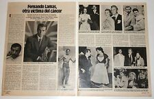 FERNANDO LAMAS DEATH 2 page 1982 spain magazine article actor photos Lorenzo